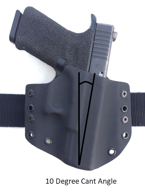 Center Mass Concealment Holsters 10 Degree Cant Angle