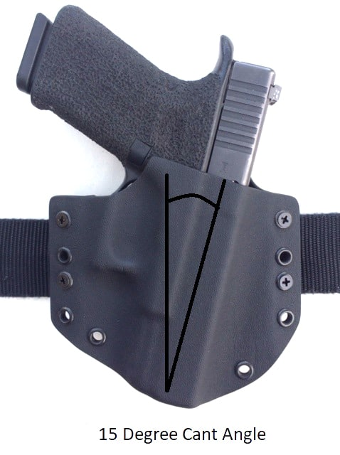 Center Mass Concealment Holsters 15 Degree Cant Angle