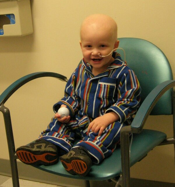 Jackson as a Toddler Undergoing Cancer Treatement