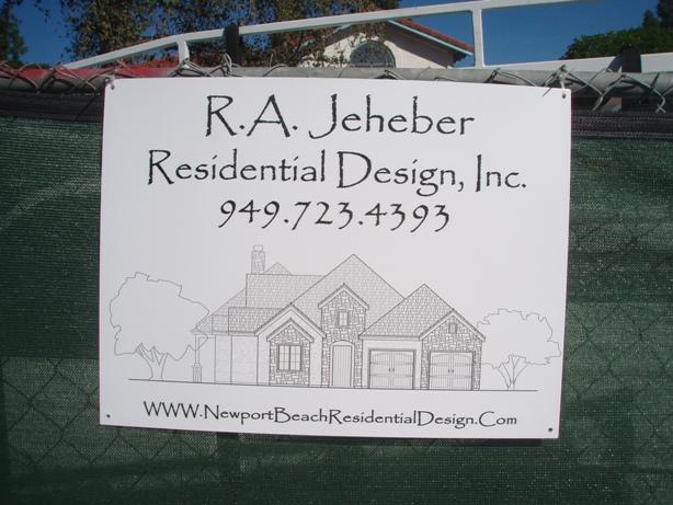 R.A. Jeheber Job Sign
