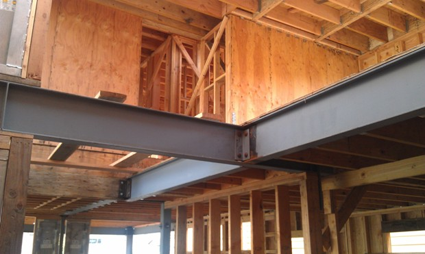 Steel I-Beams at the Stairwell Opening