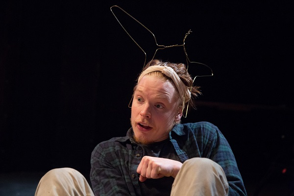 Freddie Fox in A Midsummer Night's Dream at Southwark Playhouse until 1st July CREDIT Harry Grindrod