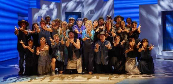 The cast of Mamma Mia