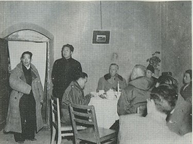 Mao Zedong and U.S. General George Marshall in China, 1946