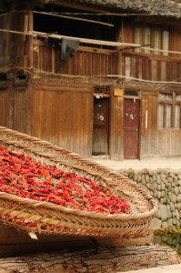 shutterstock_67773376-1 Guizhou , Gorgeous Dong village is packed whit traditional wooden structures