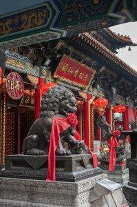 shutterstock_148743419 Hongkong IA, Lion Statue in Wong Tai Sin Temple in Hongkong