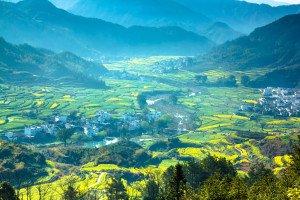 shutterstock_98506772 Hainan, rural landscape in wuyuan county, jiangxi province, china.