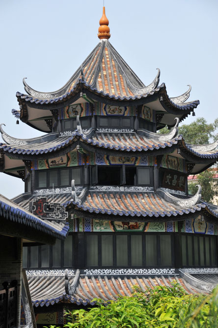shutterstock_34279636Guandong 19-5-2013, Ancient chinese pavilion from the famous yuyin cottage (built in qing dynasty, around 1800) at guangzhou, guangdong, china
