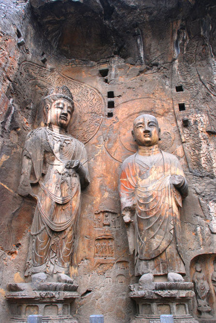 shutterstock_16044916 Henan, The stone sculpture of the Buddhist monks in a grotto of Luoyang,Henan,China