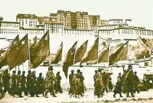 PLA Marching into Lhasa 1950