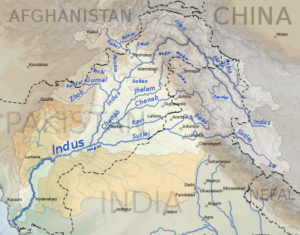 Map of the Indus River Tributaries
