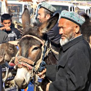 Uyghur men in Kashgar