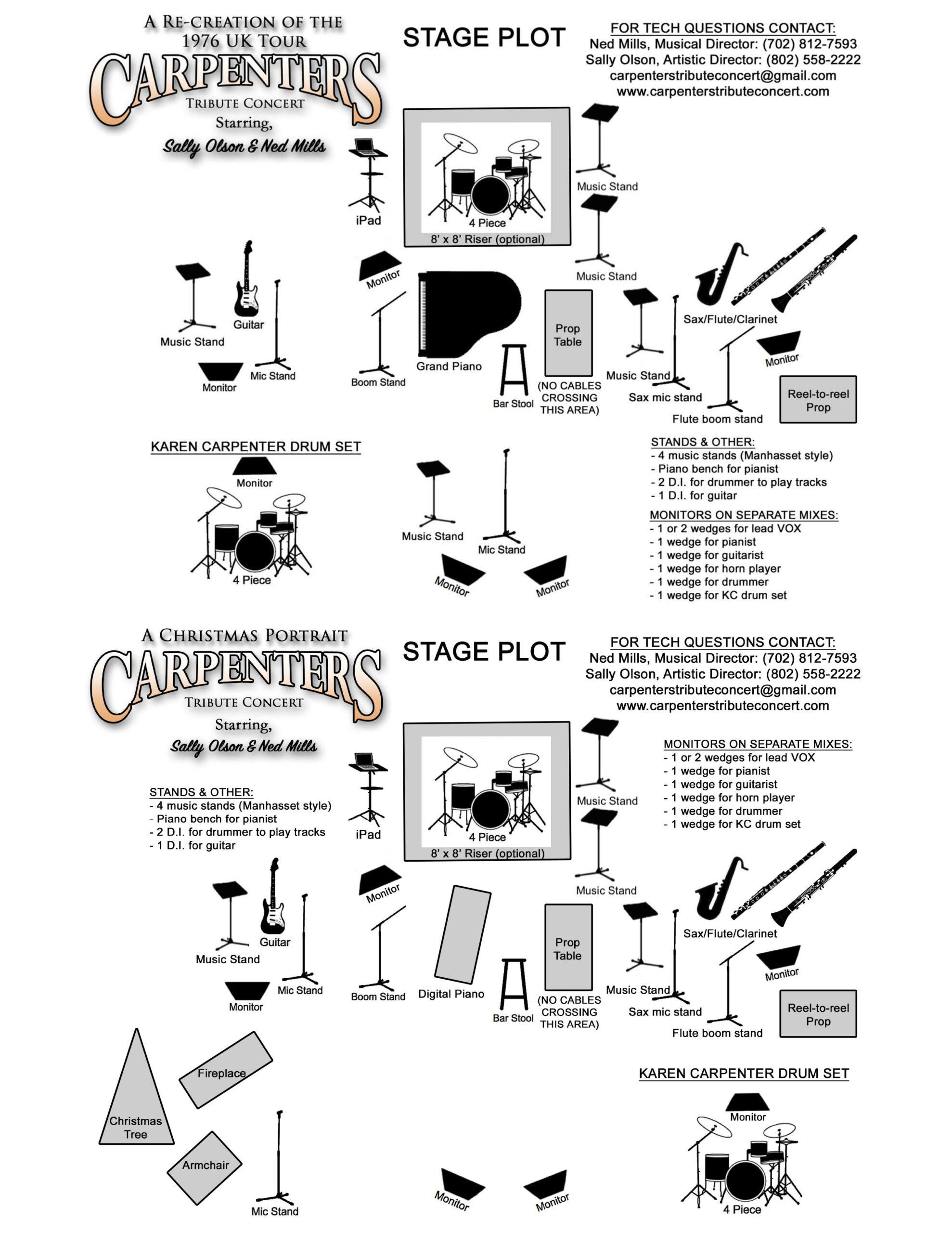 carpenters-tribute-stage-plot
