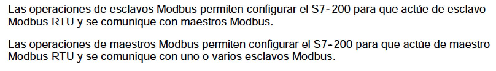 Equipos Modbus perfil maestro y esclavo
