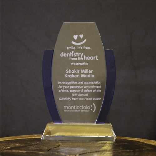 Dentistry from the Heart Glass/Acrylic Award