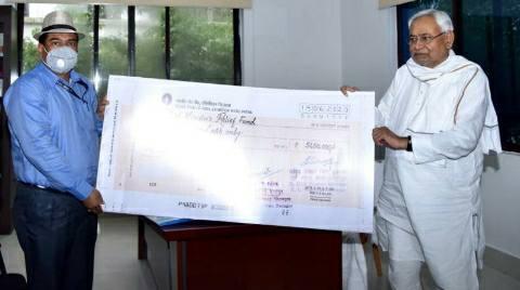 मुख्यमंत्री राहत कोष में 51 लाख रुपये का चेक सीएम को सौंपा