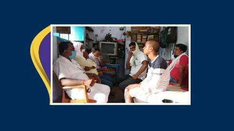 शिक्षक डॉ जयराम सक्सेना के निधन पर परिवार से मिला संघ का प्रतिनिधिमंडल