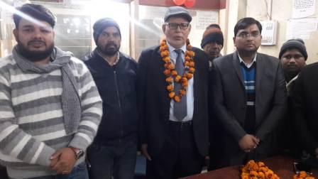 Hareram Ojha honored at the farewell ceremony upon retiring