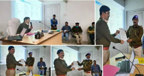 Bhojpur three SHO and crime reader got the honor