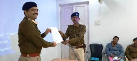 Bhojpur SP honored Chauri SHO