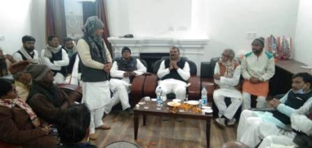 JDU state president Umesh Kushwaha welcomed in Ara