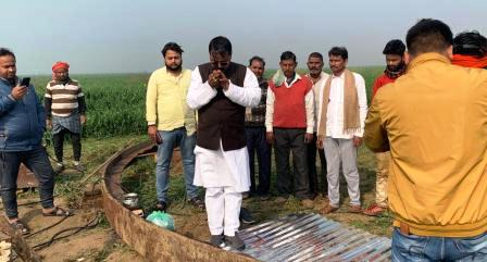 Bhojpur - extortion demands from bridge construction company personnel