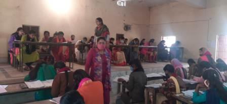 Students expelled from matriculation examination in Bihiya