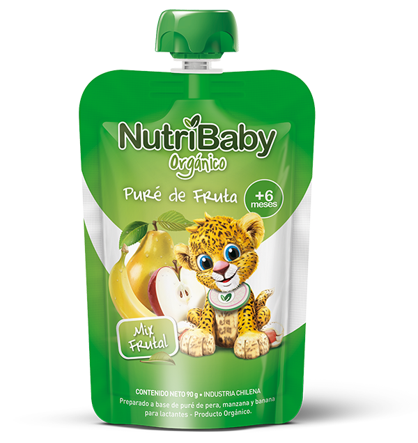 nutribaby orgánico puré de fruta mix frutal