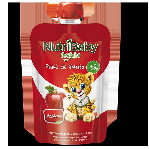 nutribaby orgánico puré de fruta manzana