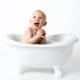 El primer baño a tu bebé