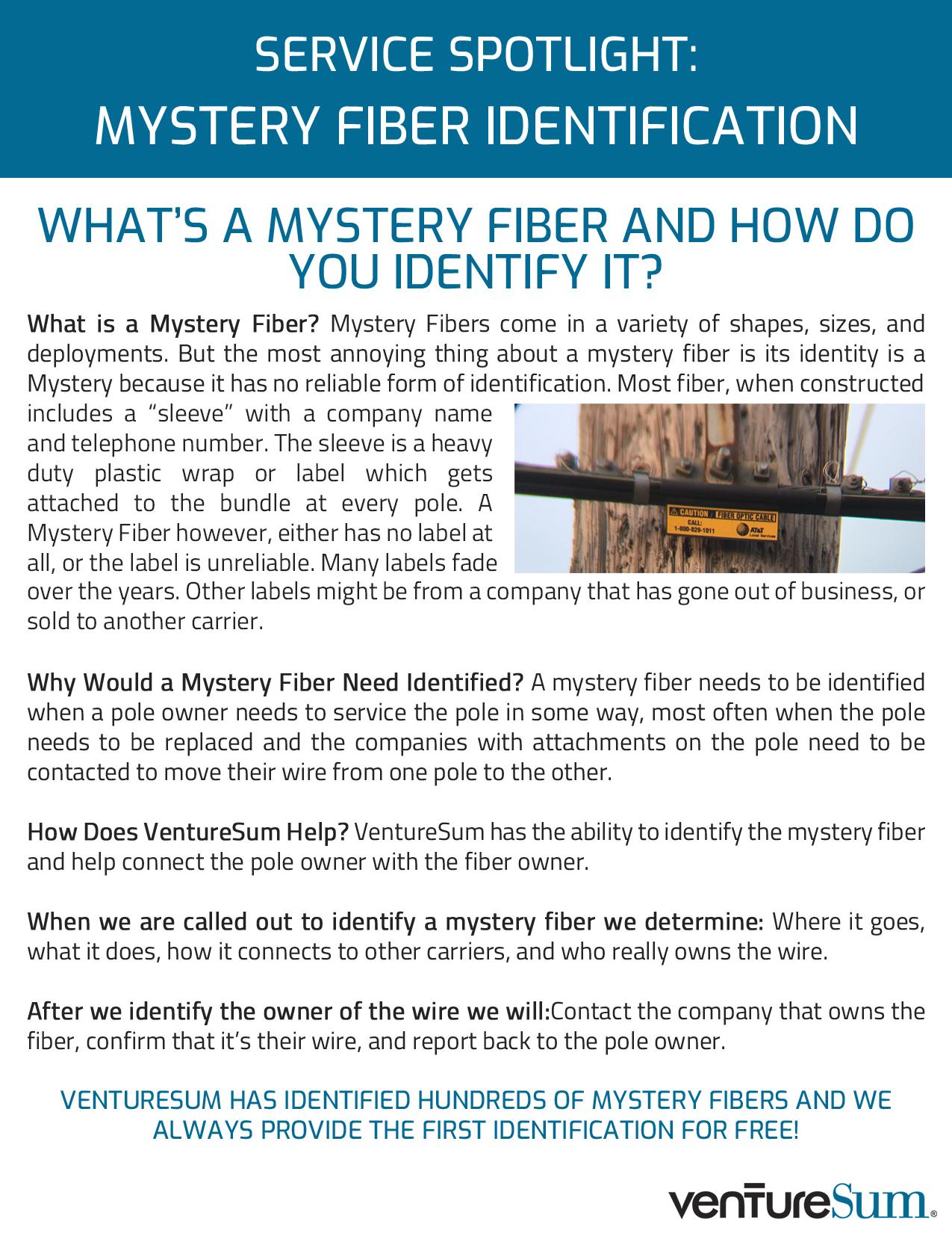 Service Spotlight: Mystery Fiber Identification