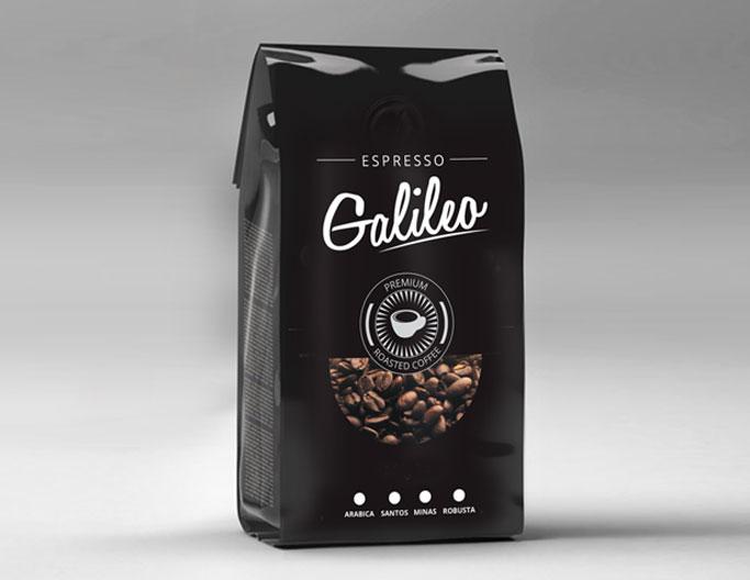 <b>Galileo Premium Coffee</b><br>Roasted Beans & Powder 500g