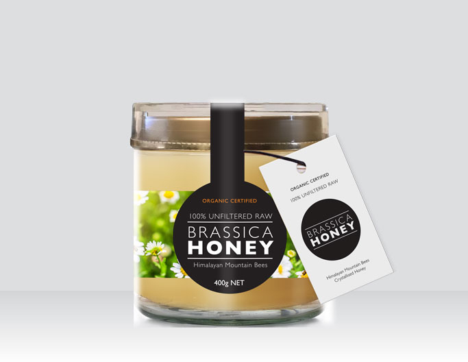<b>BRASSICA ORGANIC HONEY</b><br>Himalayan Mountain Bees<br>400g