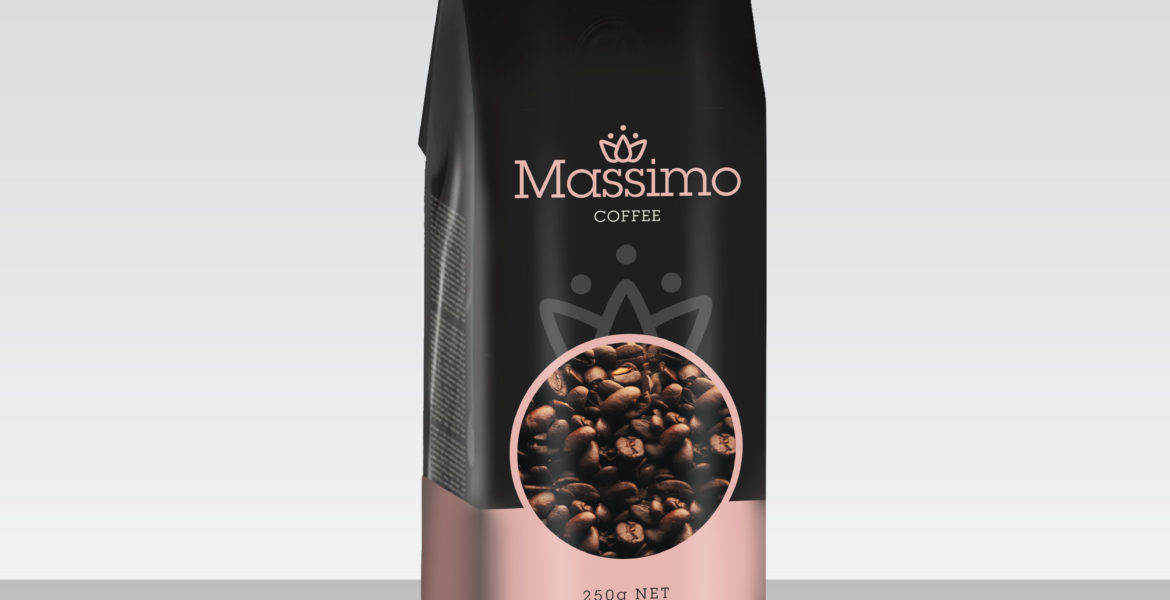 <b>Massimo Premium Coffee</b><br>Roasted Beans & Powder 250g