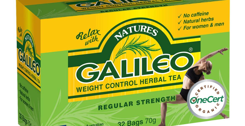 <b>Galileo</b><br>Organic <br> Weight Control Herbal Tea <br> 32 Bags