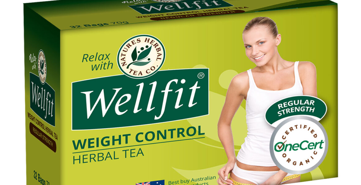 <b>Wellfit</b><br>Organic <br> Weight Control Herbal Tea <br> 32 Bags