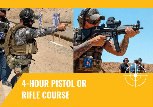4-hour pistol or rifle course