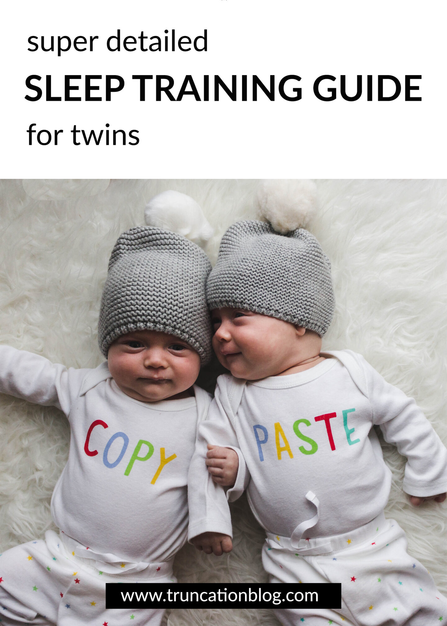 Super Detailed Sleep Training Guide for Twins