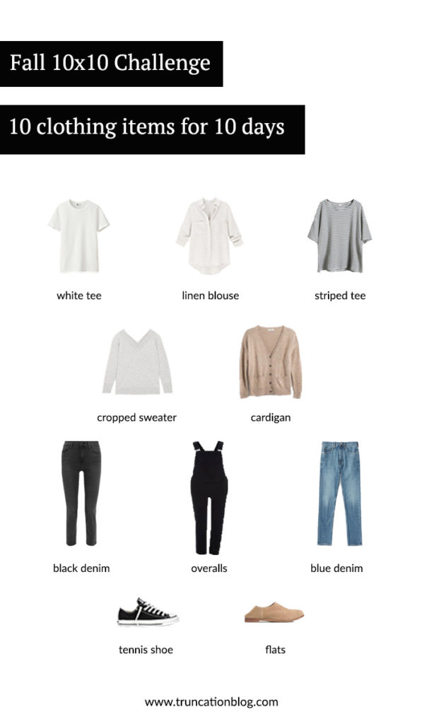 Fall 10×10 Challange: 10 Clothing Items for 10 Days
