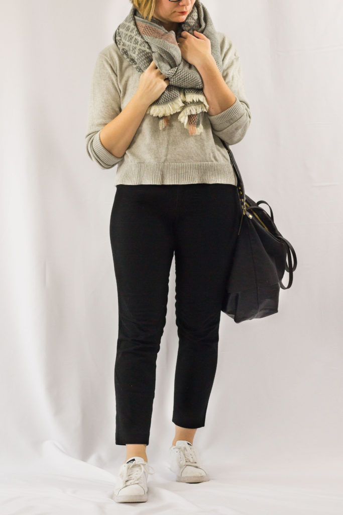 Cropped Sweater and Black Pants-1