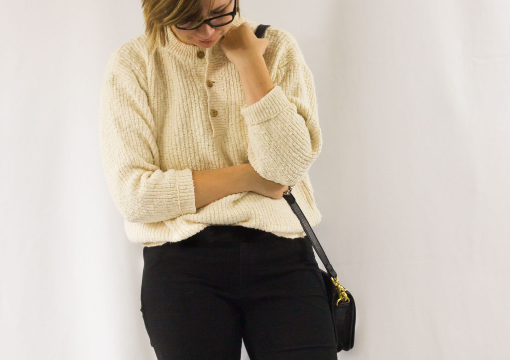Vintage Sweater and Purse-1