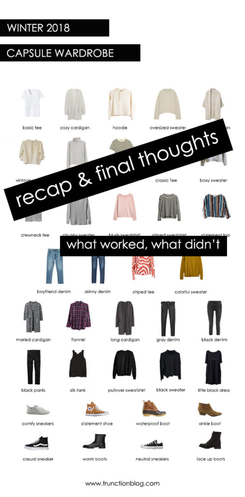 Winter 2018 Capsule Wardrobe Recap: Final Thoughts