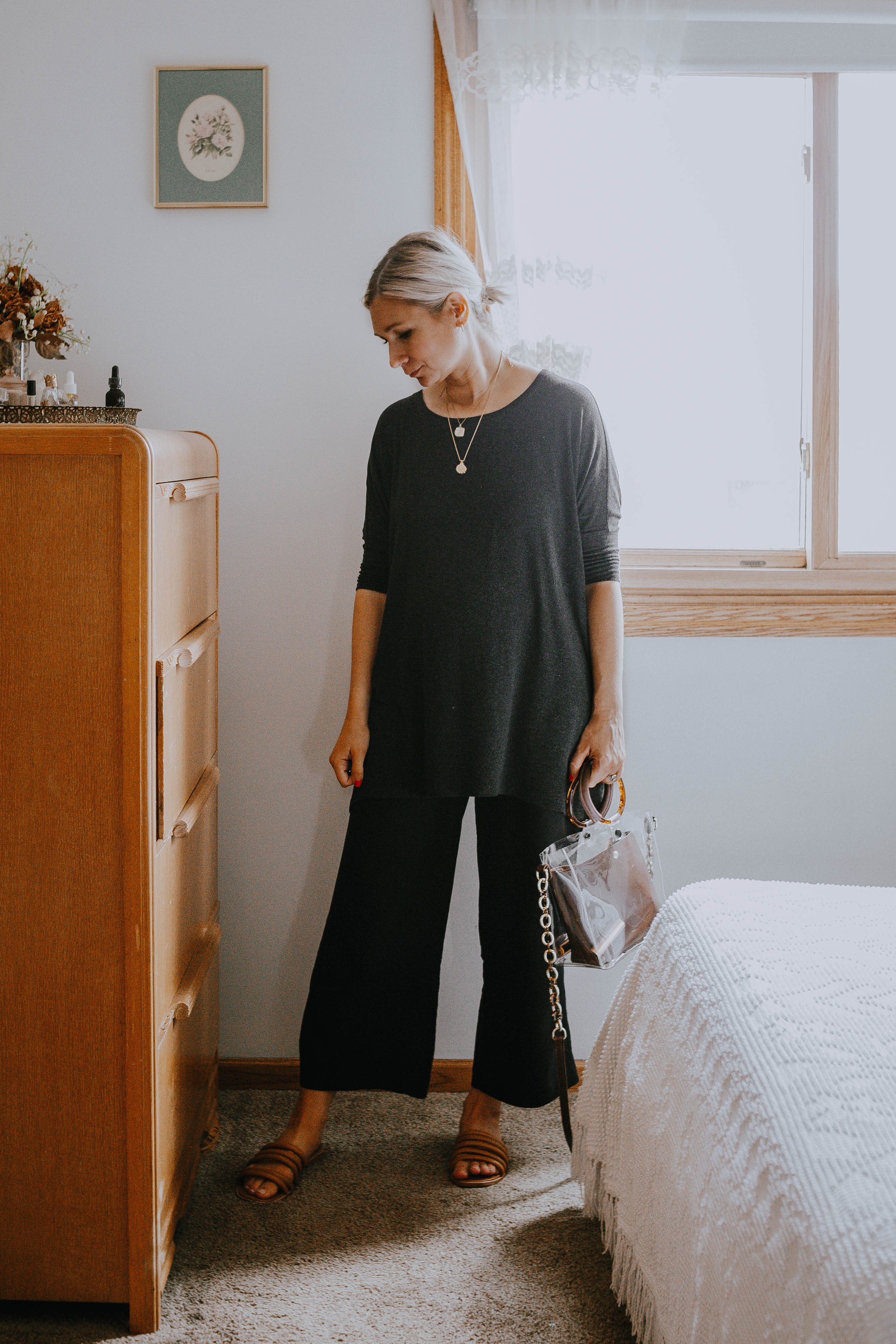 What I Wore Last Week: wide leg maternity pants