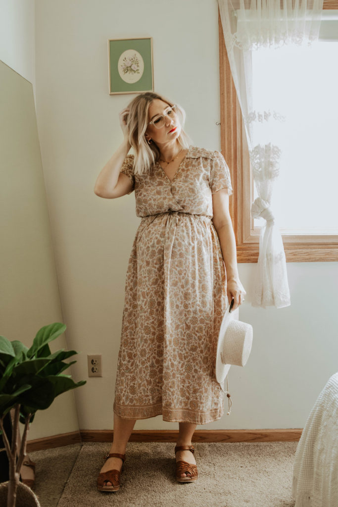 end of summer outfits, christy dawn dress, dawn dress, troentorp clogs, anna clogs, lack of color boater hat