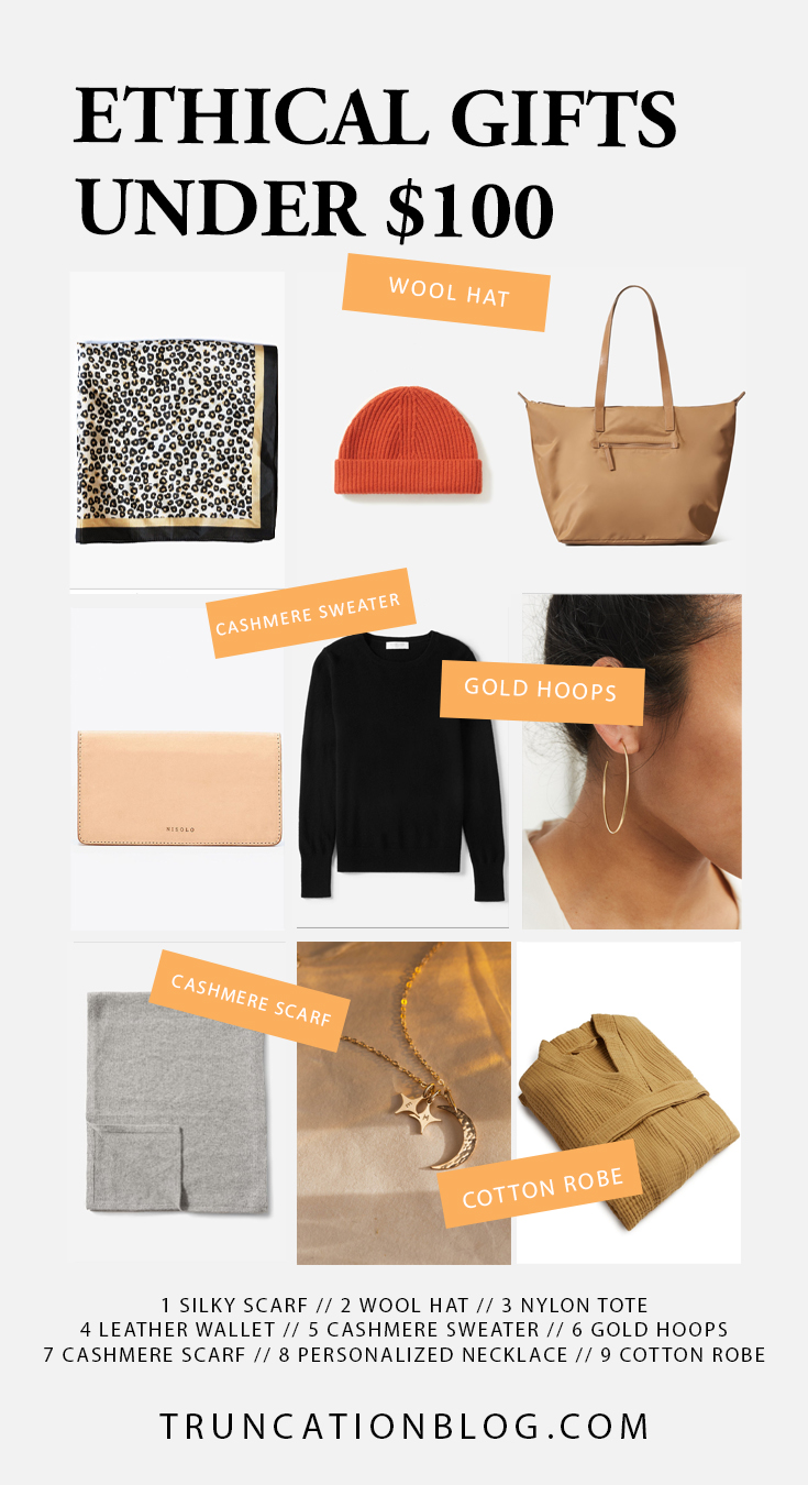 Ethical Clothing Gift Guide: Gifts Under $50, $100, & $300
