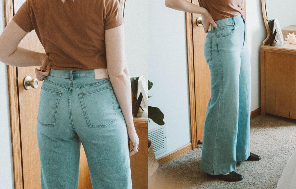 Everlane Denim Guide, Super Soft Wide Leg Jean