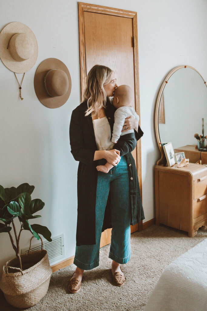 Spring Outfits: Lots of Linen and Flowy Fabrics sugar candy mountain pansy tank top, me and arrow long dress jacket, everlane wide leg crop, nisolo huarache sandals