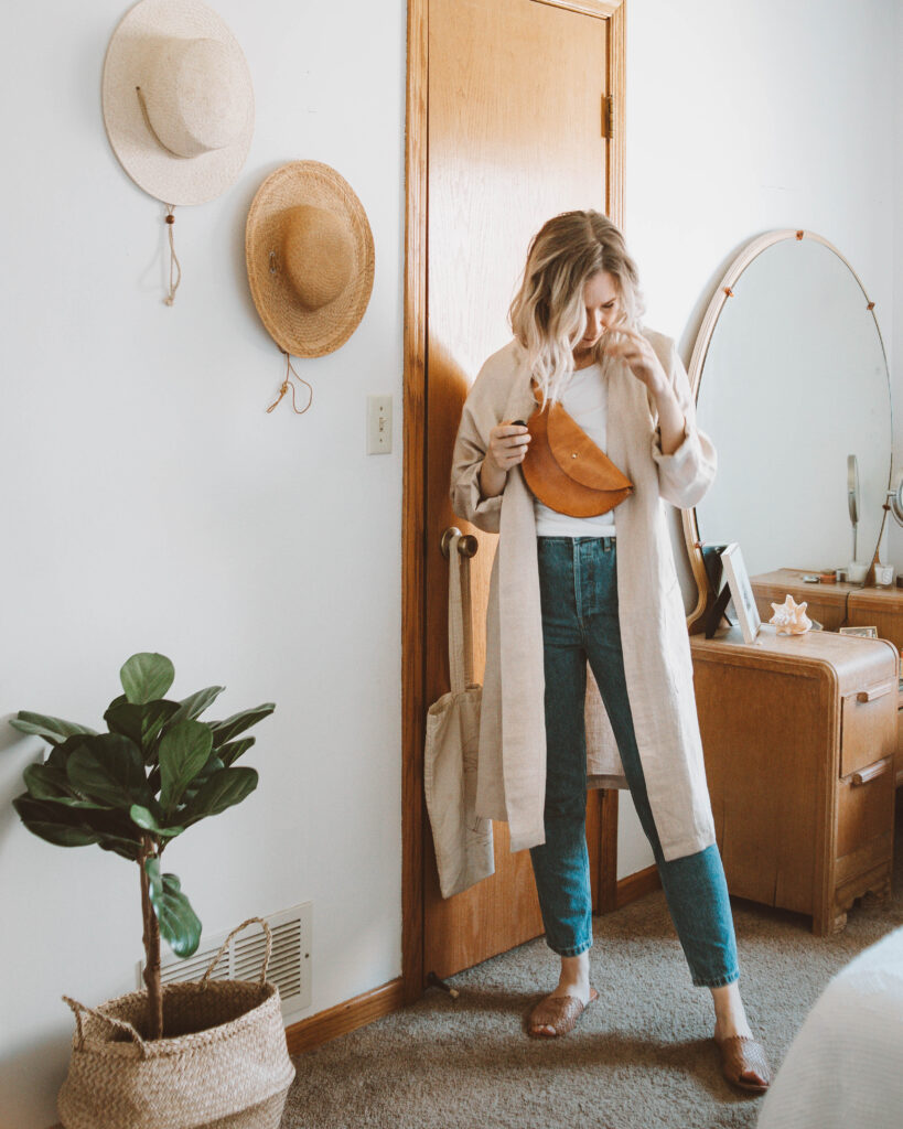 Styling a Basic Tee: 10 Different Outfit Ideas, linen duster