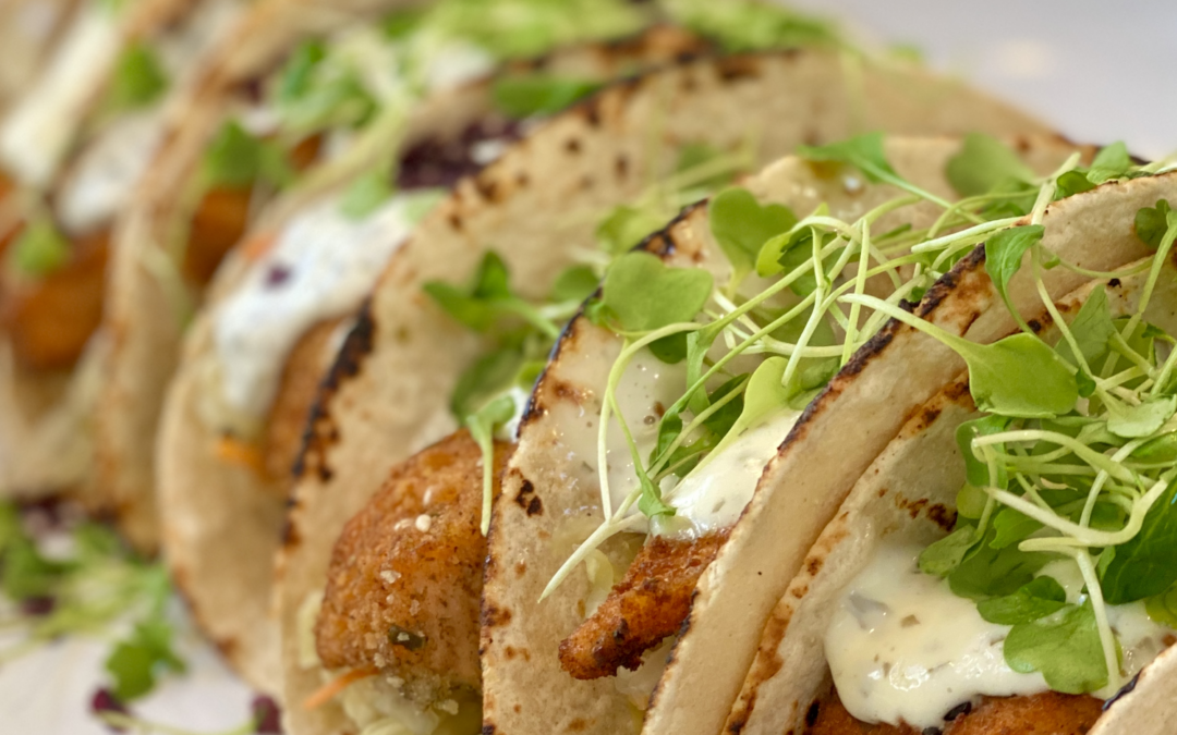 Recipe: Classic Salmon Tacos with Salsa & Kelp Lime Mayonnaise