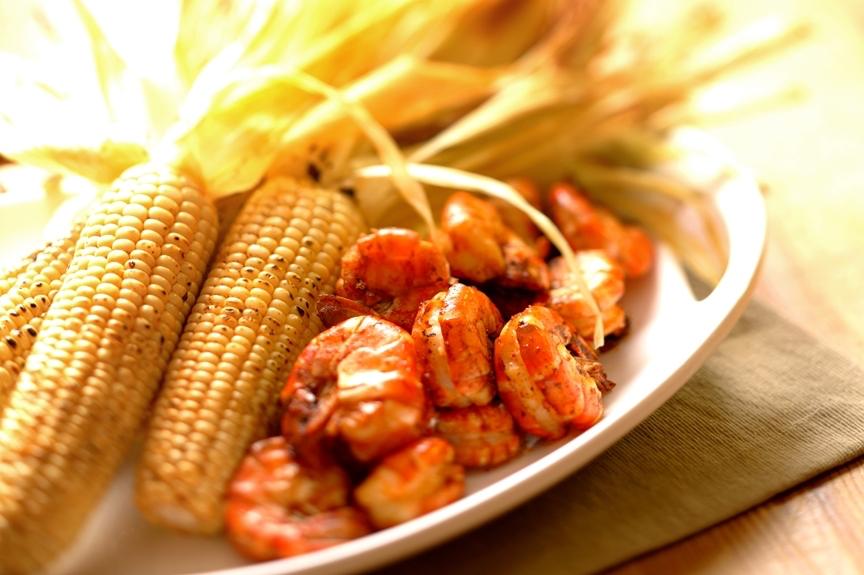 Recipe: Grilled Cajun Shrimp with Corn & Cumin Butter